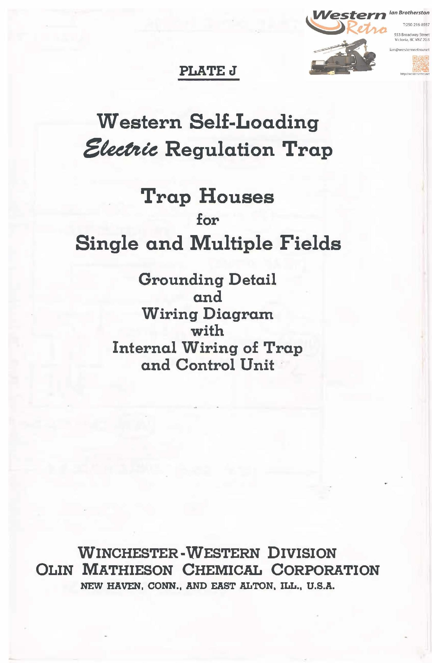 Plate J - Trap House Plans for Western Self-Loading Electric Traps
